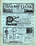 "Cover of ""The Railway Clerk"" magazine."