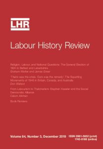 Labour History Review front cover