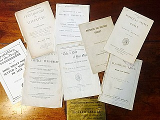 Images of 19th century pamphlets.