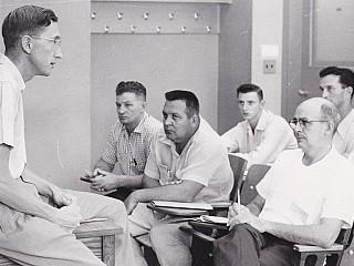 JFC Harrison teaching.