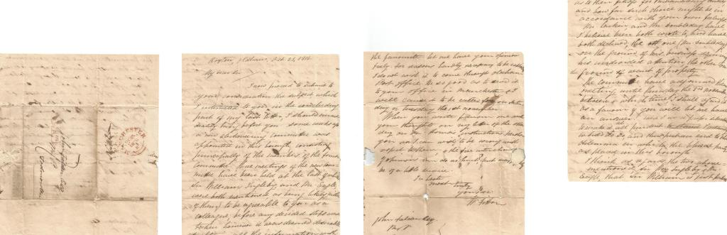 Letter from William Fitton to John Fielden.