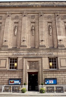 Entrance to the National Library of Scotland.