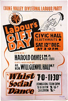 Colne Valley Labour Party poster from the archive.
