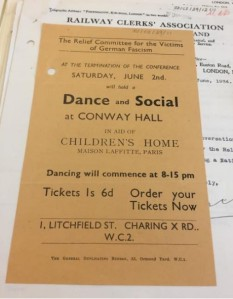 RCVGF fundraiser leaflet for Conway Hall Dance.