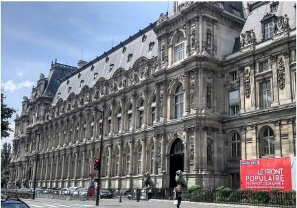 Picture of the Hotel de Ville, Paris