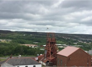View from the Big Pit National Coal Museum.