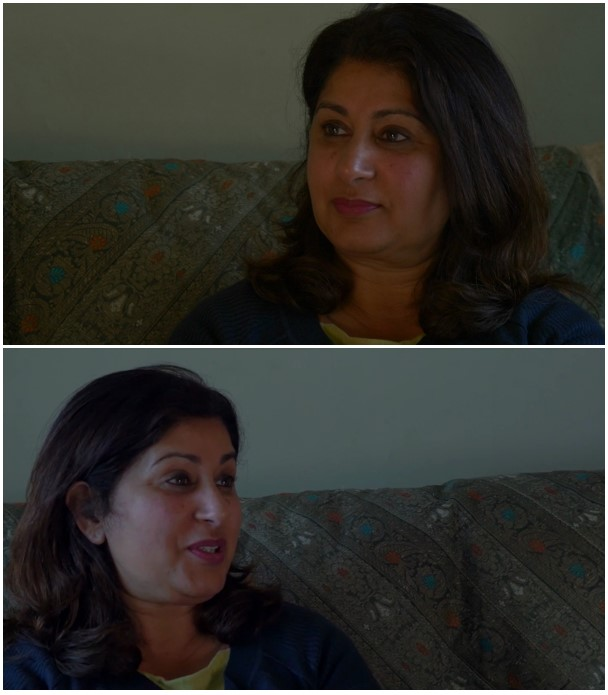 Images of interviewee Kalsoom taken from the documentary film.