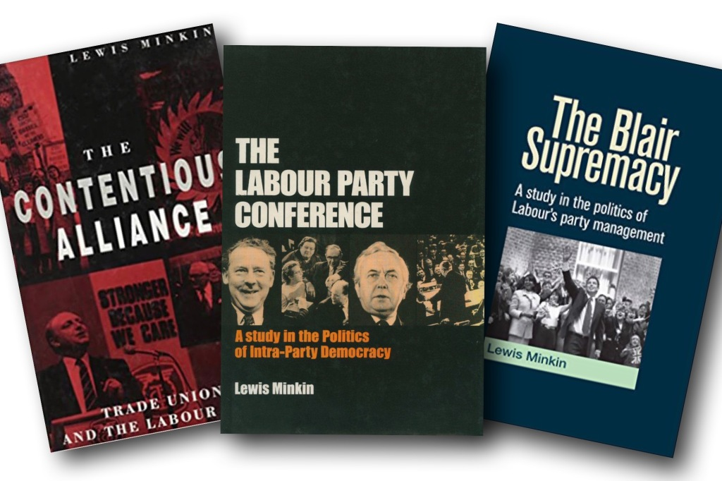 Front covers on Lewis Minkin books.
