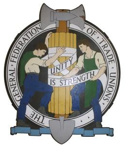 The original GFTU logo designed by Walter Crane